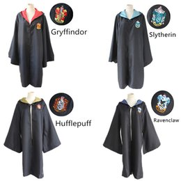 Wholesale ravenclaw cloak - Gryffindor Hufflepuff Ravenclaw Slytherin cosplay costumes cloak pluvial the movie Harry Potter clothing Masquerade Mardi Gras Carnival
