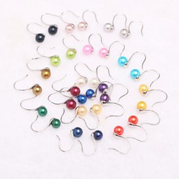 Wholesale Pink Real Pearls Earrings - 2017 Hot Sale Fashion Style 925 Silver Multicolor Real Grade AAA Freshwater Pearl Eardrop Earring Jewelry Best Gifts for Women Lover