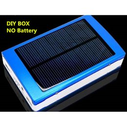 Wholesale Battery Circuit Board - Wholesale- 5 Color Solar Power Bank Case DIY Box 5V Dual USB LED PCBA Circuit Board Solar Power Panel Kit For 5*18650 Battery