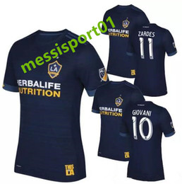 Wholesale Galaxy Custom - top thai quality 17 18 galaxy soccer jerseys away custom name number soccer uniforms football jersey soccer clothing Lfree shipping
