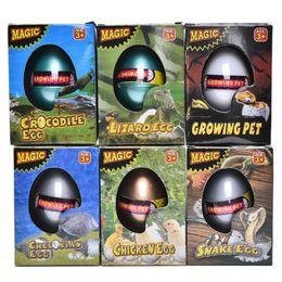 Wholesale Plastic Dinosaurs Large - Wholesale-1PCS New Large Dinosaur Eggs Children's Funny Toy Water Expansion Hatching Egg Animal Box Children Kids Toys
