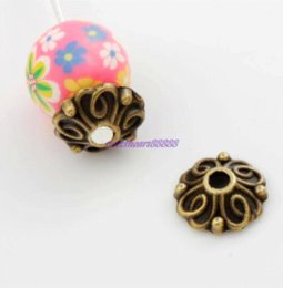 Wholesale Bali Style Jewelry - 500pcs   9.2x8.9mm Antique Bronze Bali Style Flower Bead Cap Jewelry Findings Components L1042 wholesale jewelry refractometer