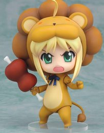 Wholesale Fate Saber Figure - Lion11cm Fate Stay Night Saber Lion PVC Action Figures Collectable model toy for kids gift free shipping