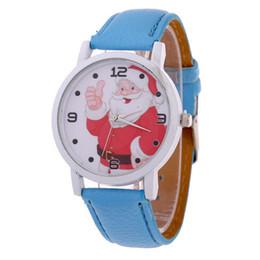Wholesale Children Watches Santa Claus - Christmas gift Santa Claus cartoon printing watches Watch of wrist of men and women children belt