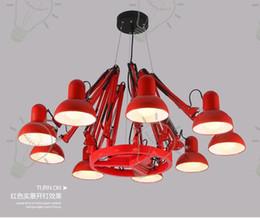 16 light chandelier NZ - Wonderland 6 9 12 16 Lights Black Red White Luxury Spider Chandelier Indoor Lighting Lamp Foyer Pendant Light Art Brand Designer