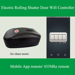 Wholesale Electric Motor Door - Wholesale- 2017 New Arrival Itead Sonoff Remote Chain Tubular Motor Controller for Electric Rolling Shutter Door IOS Android Remote