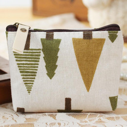 Wholesale Small Cloth Purses - Wholesale- Cute Cotton Cloth Coin Purse Plush Small Change Purses Wallet Coin Bag Card Holders Women Pouch Mini Purse Monederos Mujer