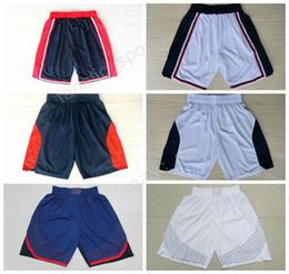 Wholesale Usa Basketball Shorts - 1992 USA Dream Team Basketball Shorts 2012 2016 American Men Short Pant 6 Patrick Ewing 5 Kevin Durant 8 Deron Williams Sportswear Free Ship