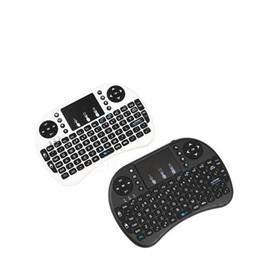 2019 rii i8 bluetooth Großhandel i8 Mini Wireless Tastatur 2,4 GHz Englisch Russisch Air Maus Tastatur Touchpad Fernbedienung Für XIAOMI Android TV Box