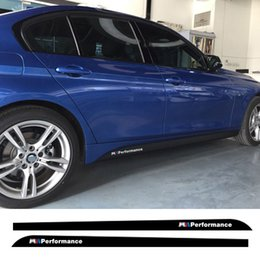 Wholesale Decal Words - Styling M performance Side Skirt Stripe Sticker Body Decal for BMW 3 5 Series F30 320 335 F10 M5 525i 520i 528i 535i