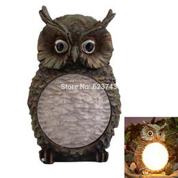 Wholesale Owl Solar Lights - Wholesale- 10Pcs Lot Creative Solar Owl Light Garden Yard Decorative Bird Night Lights outdoor Lighting Garden Party Decor Light Gift