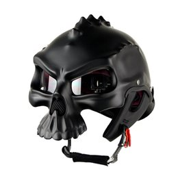 Wholesale Red Skeletons - Personalized fashion skeleton helmet can be worn on both sides cool style Harley locomotive motorcycle helmets