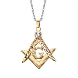 Shop masonic pendants gold uk masonic pendants gold free delivery fashion jewelry wholesale stainless steel pendant gold masonic with cz diamond necklace for men pn 389 aloadofball Gallery