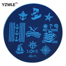 Wholesale Nails Stamping Plates - Wholesale-YZWLE 1 Pcs Stainless Steel Plate Image Stamp Stamping Plates DIY Manicure Template Nail Polish Tools (JQ-11)