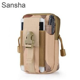 Wholesale Large Capacity Waist Packs - Large Capacity Tactical Molle Pouch Belt Waist Pack Bag Pocket for Iphone for meizu Samsung pro HUAWEI Military Waist Fanny Pack Pocket