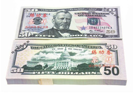 Wholesale Money Plays - Earliest edition Money banknote USD50 for Movie props and Education bank staff training paper play money currency money children gift