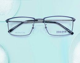 Wholesale Korean Eyeglasses - Korean Style Fashionable Metal Half-frame Man Woman Tr90 Retro Plain Eyeglass Myopiad Frame