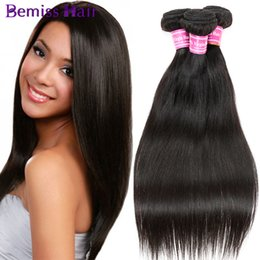 Wholesale Mix Virgin Peruvian Hair Remy - Top!Best Quality Fashion Women's Straight Health And Beauty Natural Color Brizilian Virgin Human Hair Extension Straight Mixed Sizes Jewelry