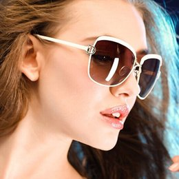 Wholesale Real D Glasses - Wholesale-High Quality Women or Lady Sunglasses 2016 Summer Fashion Luxury D Style Shades Glasses gradient lenses sun glasses Real Oculos