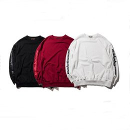 Wholesale White Cotton Sweatshirts - New Men Women Kanye West Hoodies Sweatshirts SEASON 4 BOXY CREWNECK BAT Hoodie Sweatshirt Tracksuit Hip Hop Fashion Calabasas Hoodies