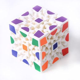 Wholesale Puzzle Stickers - 3D Cube Puzzle Magic Cube 3 x 3 x 3 Gears Rotate Puzzle Sticker Adults Child's Educational Toy Cube MU838759