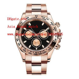 Wholesale Luxury Watch 18k Gold Sapphire - Factory Supplier Luxury AAA Brand Sapphire 40mm 18k Pink Gold 116505 Automatic Mechanical Mens Men's Watch Watches No Chronograph Black Dial