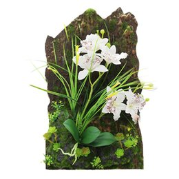 Wholesale Sculpture Decoration - Home Creative Decor 3d Simulation Plant Frame Artificial Flowers Plants Table Decoration Wall Mounted Sculptures 5 Branches
