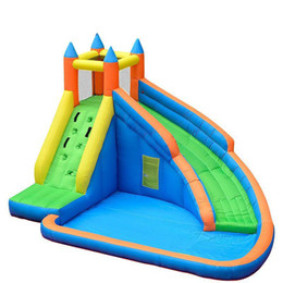 Wholesale Castle Jumpers - Kids Inflatable Water Slide Big Pool Bounce House Jumper Bouncer Jump Bouncy Castle