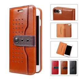 Wholesale Iphone Case Cowboys - Cowboy Style PU Leather Wallet Case Flip Cover For Samsung S7 Edge Iphone 7 6s 6 plus With Retail Package