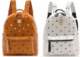 Wholesale Bow Canvas Backpack - 100% High Quality New Arrival Fashion Mens Womens Punk Rivet Backpack School Bag Unisex Backpack Student Bag Men Travel STARK BACKPACK