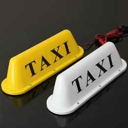 Wholesale Taxi Roof Signs - 12V Taxi Magnetic Base Roof Top Cab LED Sign Light Lamp With Cigarette Lighter