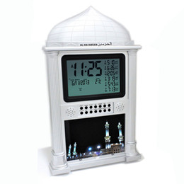 Wholesale Muslim Clock - Wholesale-muslim azan prayer clock all prayers Full Azans 1150 cities Super Azan clock Free shiping cost