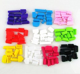 Wholesale Silicone Usb Cover - Wholesale 10bags lot(13pcs bag) Silicone PC laptop dustproof plug usb dust plug Anti Dust Plug Cover Set Stopper