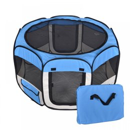Wholesale Blue Kennel - New Small Blue Pet Dog Cat Tent Playpen Exercise Play Pen Soft Crate