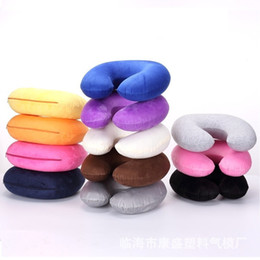 Wholesale Household Shorts - New Short plush Cartoon U shape Pillow Outdoor travel leisure Massage Pillow Office household sleeping pillow IA1007