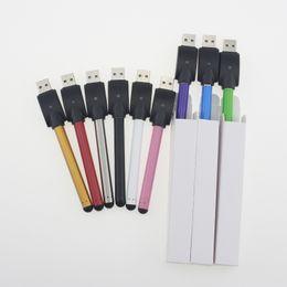 Wholesale Pink Waxed Thread - CE3 O-pen Battery Touch Pen 280mAh Vapor pen 510 thread e Cigarettes with mini usb in white box for Wax Oil Cartridge Vaporizer