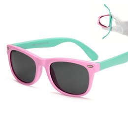 Wholesale Mixed Girl Babies - Flexible Kids fashion Sunglasses Polarized Sunglasses Child Baby Safety Coating Sun Glasses UV400 Eyewear Shades Infant oculos de sol