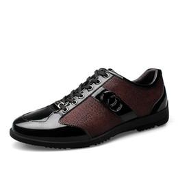 Wholesale Mens Office Wear - Genuine Leather Flats Leather Men's Formal Shoes Breathable Wear-resistant Men Leather Shoes Fashion dress shoes Men Mens Shoes
