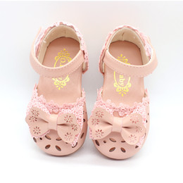 Wholesale tpr sole sandals - 2017 new summer women's shoes, sandals, 1-2-3-4 years old, soft soles, Baotou Korean version, baby, princess shoes