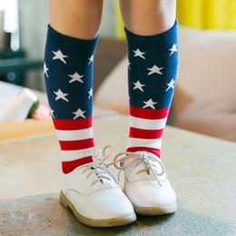 al por mayor calcetines de bandera americana Rebajas Calcetines de los niños al por mayor productos de algodón de punto Tongwa personalidad creativa coreana bandera de algodón en los calcetines