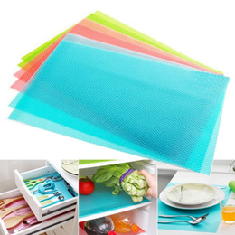 Wholesale Tailoring Accessories - Wholesale- 4pcs set Can Tailor Refrigerator Mat Waterproof Tableware Placemat Heatinsulated Dining Tables Place Pad For Kitchen Accessories