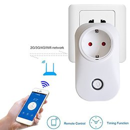 Wholesale Switch For Socket - Sonoff S20 Smart Wifi Itead Socket Switch US EU Plug Remote Control Socket Outlet Timing Switch for Smart Home Automation DHL