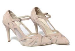 2017 mode air maille nude pompes femmes pompes de mariage point toe découpe talons hauts beige chaussures de mariage sexy fretwork sandales de gladiateur ? partir de fabricateur
