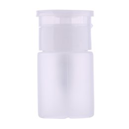Wholesale 75ml Bottles Wholesale - Wholesale- 75ml Empty Box Nail Polish Remover Disinfectant Alcohol Container Holder Liquid Refillable Bottles Press Opening Design
