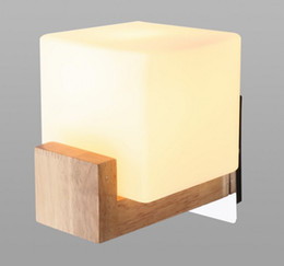 Wholesale Modern Style Bedding - Northern Europe Style Wood LED Wall Light Lamps For Home Lighting bed light,Wall Sconce Arandela Lamparas De Pared LLFA