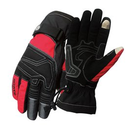 Wholesale Leather Ski Gloves Women - Wholesale- Motorcycle Winter Gloves Scoyco MC30 Guantes moto Waterproof motocross luvas Sports Warm Screen Touch outdoor ski men Women Res