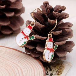 Wholesale Woman Santa Claus - 50pr lot New Fashion Women Santa Claus Snowman Bell Christmas Jewelry Christmas Earring For Women best Gifts HYEX1385A
