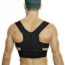 Wholesale Magnetic Girl - Hot Adjustable Back Therapy Shoulder Magnetic Posture Corrector for Girl Student Child Men Women Adult Braces Magnet Supports