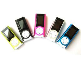 Wholesale 4gb Mini Mp3 Player Lcd - New arrival mini FM radio with LCD screen built in speaker music Support 2GB 4GB 8GB 16GB 32GB TF card MP3 player