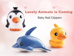 Wholesale cute new nails - New Animal Nail Scissors Creative Cute Cartoon Carbon Steel Nail Clippers Manicure Tools for Baby Kids Children Gifts
